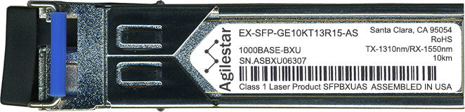 Juniper Networks EX-SFP-GE10KT13R15-AS (Agilestar Original) SFP Transceiver Module