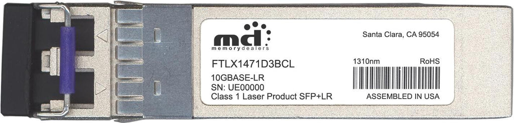 Finisar FTLX1471D3BCL (100% Finisar Compatible) SFP+ Transceiver Module