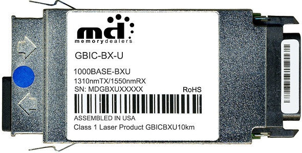 Cisco GBIC Transceivers GBIC-BX-U (100% Cisco Compatible) GBIC Transceiver Module