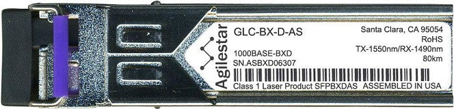 Cisco SFP Transceivers GLC-BX-D-AS (Agilestar Original) (80km) SFP Transceiver Module