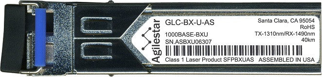Cisco SFP Transceivers GLC-BX-U-AS (Agilestar Original) (40km) SFP Transceiver Module
