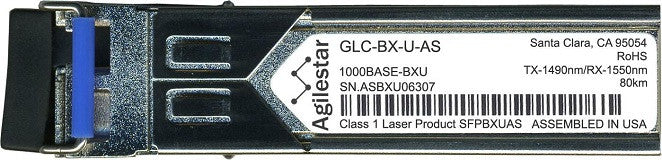 Cisco SFP Transceivers GLC-BX-U-AS (Agilestar Original) (80km) SFP Transceiver Module