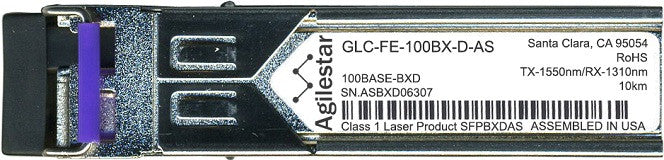Cisco SFP Transceivers GLC-FE-100BX-D-AS (Agilestar Original) SFP Transceiver Module