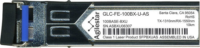 Cisco SFP Transceivers GLC-FE-100BX-U-AS (Agilestar Original) SFP Transceiver Module