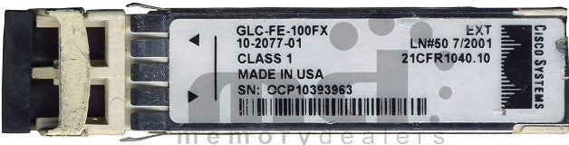 Cisco SFP Transceivers GLC-FE-100FX (Cisco Original) SFP Transceiver Module
