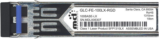 Cisco SFP Transceivers GLC-FE-100LX-RGD (100% Cisco Compatible) SFP Transceiver Module
