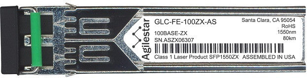 Cisco SFP Transceivers GLC-FE-100ZX-AS (Agilestar Original) SFP Transceiver Module