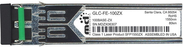 Cisco SFP Transceivers GLC-FE-100ZX (100% Cisco Compatible) SFP Transceiver Module