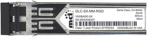 Cisco SFP Transceivers GLC-SX-MM-RGD (100% Cisco Compatible) SFP Transceiver Module
