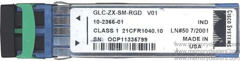 Cisco SFP Transceivers GLC-ZX-SM-RGD (Cisco Original) SFP Transceiver Module