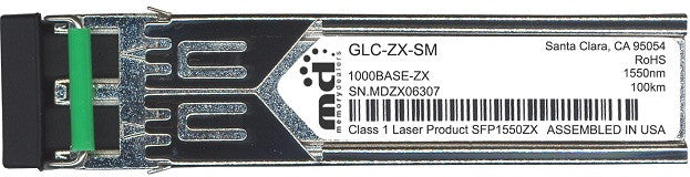 Cisco SFP Transceivers GLC-ZX-SM (100% Cisco Compatible) SFP Transceiver Module
