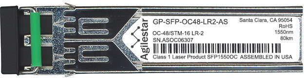 Force10 GP-SFP-OC48-LR2-AS (Agilestar Original) SFP Transceiver Module