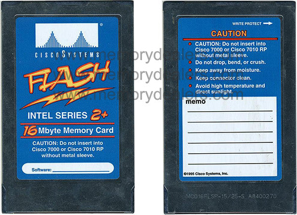 Memory IMC016FLSP-15/25-S 16MB Cisco Flash Memory Card.  Transceiver Module