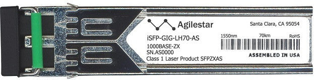 Alcatel SFP Transceivers iSFP-GIG-LH70-AS (Agilestar Original) SFP Transceiver Module