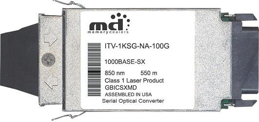 McAfee ITV-1KSG-NA-100G (100% McAfee Compatible) GBIC Transceiver Module