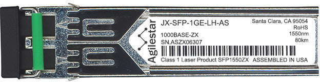 Juniper Networks JX-SFP-1GE-LH-AS (Agilestar Original) SFP Transceiver Module