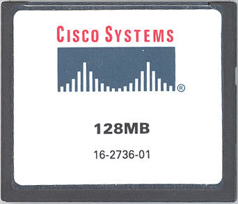 Memory 128MB Cisco 2800 Series Compact Flash (p/n: MEM2800-128CF=) Router Memory Transceiver Module
