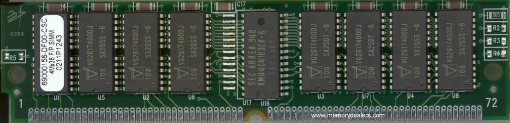 Memory 16MB Approved AS5200 Cisco DRAM SIMM memory (p/n: MEM-16M-52) Access Server Memory Transceiver Module
