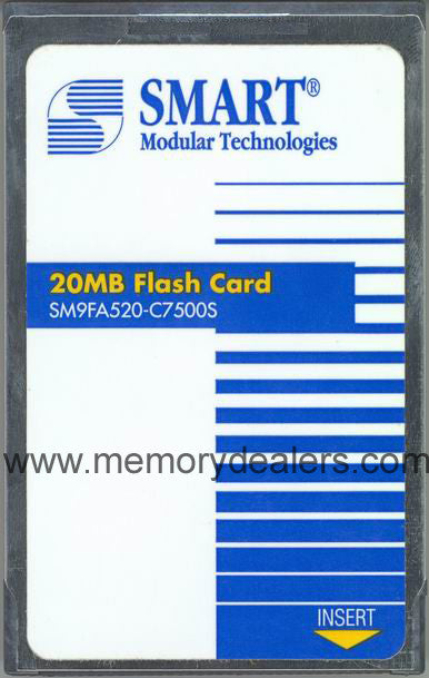 Memory 20MB Approved memory, Cisco RSP Linear Flash (p/n: MEM-RSP-FLC20M=, MEM-RSP4-FLC20M or MEM-RSP8-FLC20M) Route Processors - RP,RSP,CIP2,GRP,ESR,GSR Transceiver Module