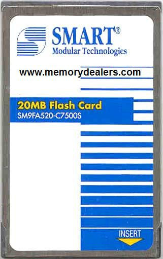 Memory 20MB Memory, Cisco Approved Flash card Lightstream 1010 (p/n MEM-8540C-FLC20M) Lightstream Cisco Memory Transceiver Module