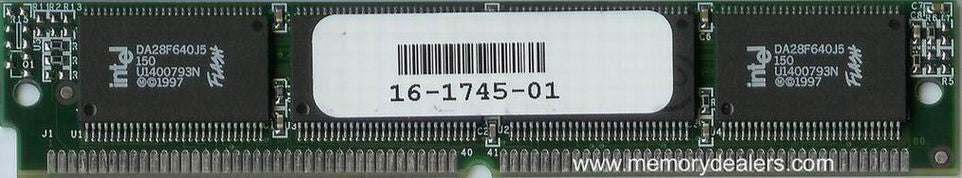 Memory 32MB Approved memory, Cisco MC3810 Series Flash SIMM (p/n: MEM-381-1X32F=) Router Memory Transceiver Module