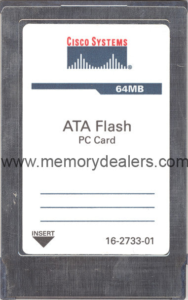 Memory 64MB Approved memory, Cisco RSP4+ ATA Flash Card (p/n: MEM-RSP4+-FLD64M or MEM-RSP4-FLD64M) Route Processors - RP,RSP,CIP2,GRP,ESR,GSR Transceiver Module