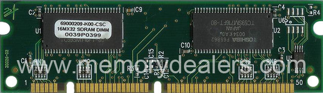 Hardware 64MB Approved memory, Cisco 2650 Series SDRAM DIMM (p/n: MEM2650-64D=) Router Memory Transceiver Module
