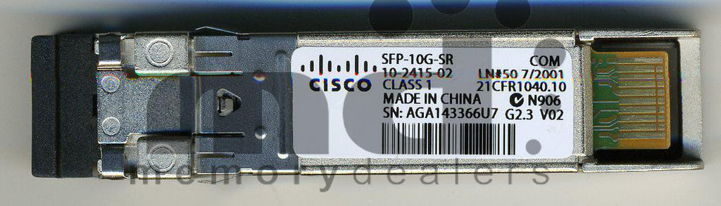 Cisco SFP+ Transceivers SFP-10G-SR (Cisco Original) SFP+ Transceiver Module