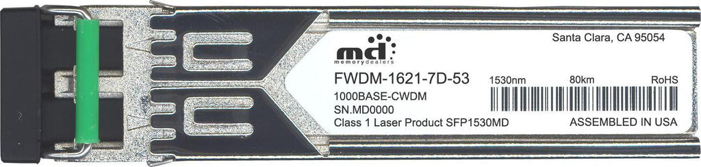 Finisar FWDM-1621-7D-53 (100% Finisar Compatible) SFP Transceiver Module
