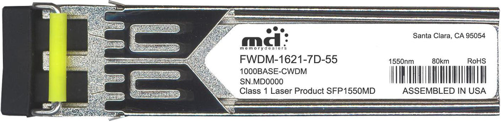 Finisar FWDM-1621-7D-55 (100% Finisar Compatible) SFP Transceiver Module
