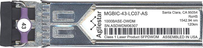 Enterasys MGBIC-43-LC07-AS (Agilestar Original) SFP Transceiver Module