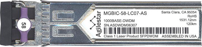 Enterasys MGBIC-58-LC07-AS (Agilestar Original) SFP Transceiver Module