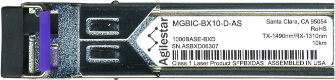 Enterasys MGBIC-BX10-D-AS (Agilestar Original) SFP Transceiver Module