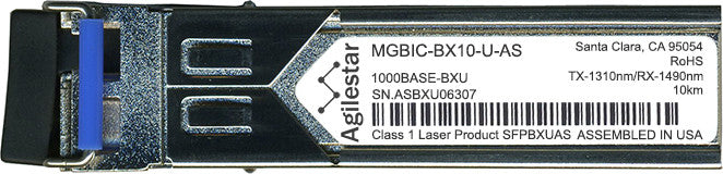 Enterasys MGBIC-BX10-U-AS (Agilestar Original) SFP Transceiver Module