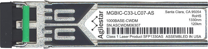 Enterasys MGBIC-C33-LC07-AS (Agilestar Original) SFP Transceiver Module