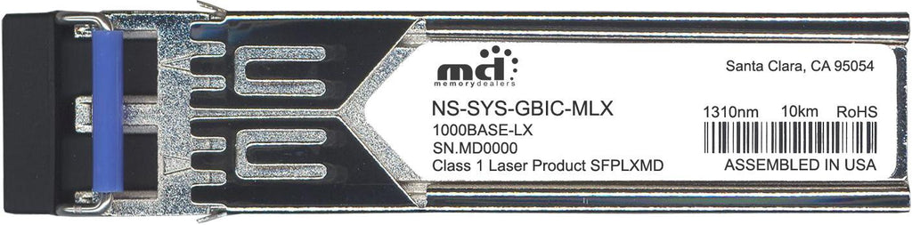 Juniper Networks NS-SYS-GBIC-MLX (100% Juniper Compatible) SFP Transceiver Module