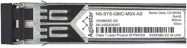 Juniper Networks NS-SYS-GBIC-MSX-AS (Agilestar Original) SFP Transceiver Module
