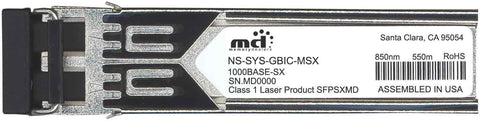 Juniper Networks NS-SYS-GBIC-MSX (100% Juniper Compatible) SFP Transceiver Module