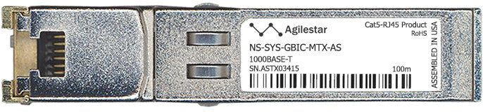 Juniper Networks NS-SYS-GBIC-MTX-AS (Agilestar Original) SFP Transceiver Module