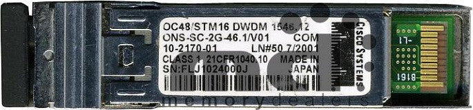 Cisco SFP Transceivers ONS-SC-2G-46.1 (Cisco Original) SFP Transceiver Module