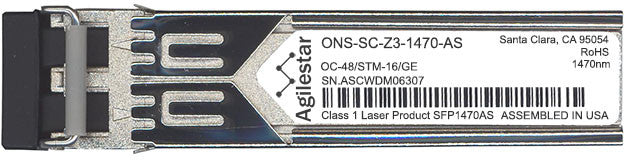 Cisco SFP Transceivers ONS-SC-Z3-1470-AS (Agilestar Original) SFP Transceiver Module