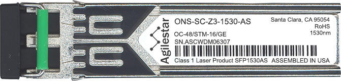 Cisco SFP Transceivers ONS-SC-Z3-1530-AS (Agilestar Original) SFP Transceiver Module
