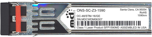 Cisco SFP Transceivers ONS-SC-Z3-1590 (100% Cisco Compatible) SFP Transceiver Module