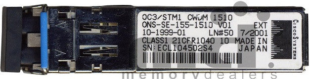 Cisco SFP Transceivers ONS-SE-155-1510 (Cisco Original) SFP Transceiver Module