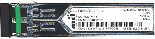 Cisco SFP Transceivers ONS-SE-2G-L2 (100% Cisco Compatible) SFP Transceiver Module
