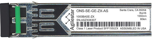 Cisco SFP Transceivers ONS-SE-GE-ZX-AS (Agilestar Original) SFP Transceiver Module