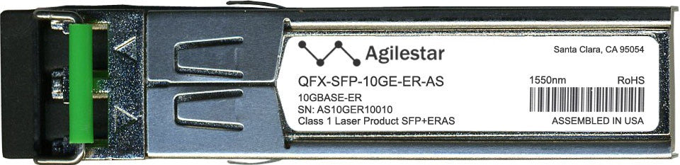 Juniper Networks QFX-SFP-10GE-ER-AS (Agilestar Original) SFP+ Transceiver Module