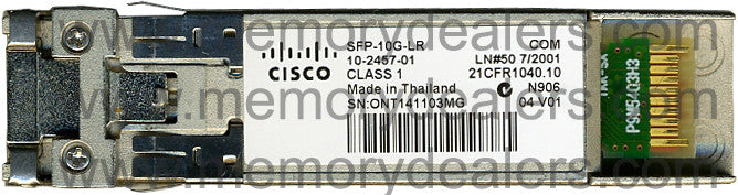 Cisco SFP+ Transceivers SFP-10G-LR (Cisco Original) SFP+ Transceiver Module