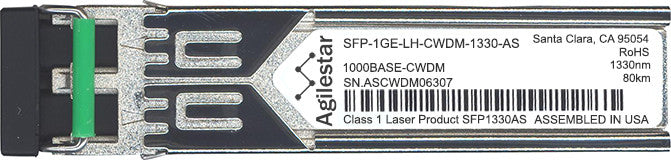 Juniper Networks SFP-1GE-LH-CWDM-1330-AS (Agilestar Original) SFP Transceiver Module