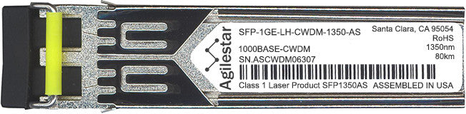 Juniper Networks SFP-1GE-LH-CWDM-1350-AS (Agilestar Original) SFP Transceiver Module